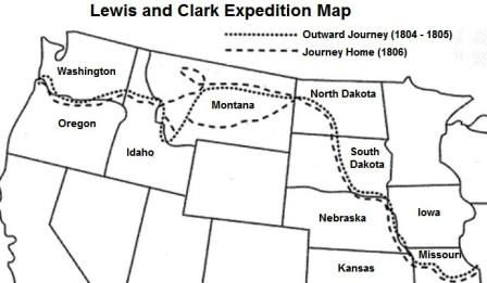 graphic relating to Lewis and Clark Printable Map known as map of lewis and clark expedition for little ones - Google Seem