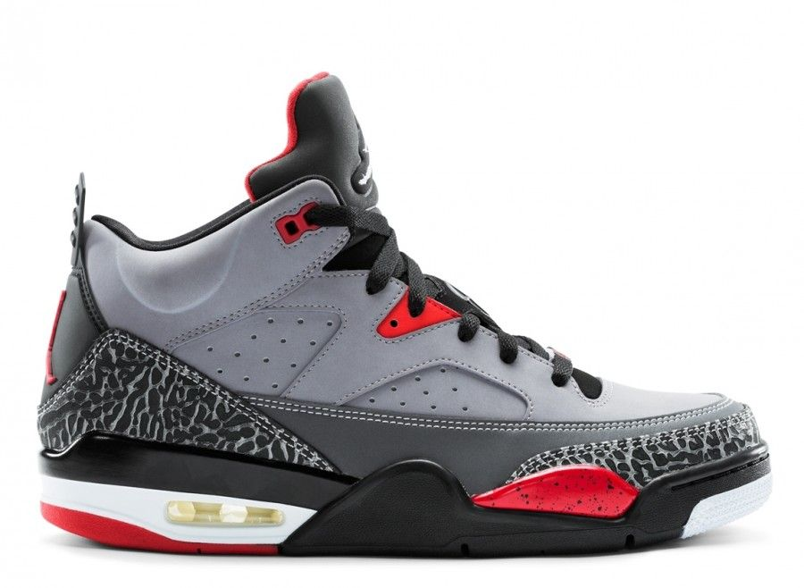 premium selection 4208e 03c3a Jordan Son of Mars Low Cement Grey Black Fire Red White