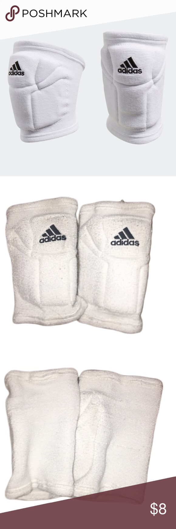 Adidas Elite Volleyball Knee Pads Great Cushion These Have Only Been Worn For About 2 Weeks But They Are White So It S Visible That In 2020 Volleyball Knee Pads Adidas Adidas Women