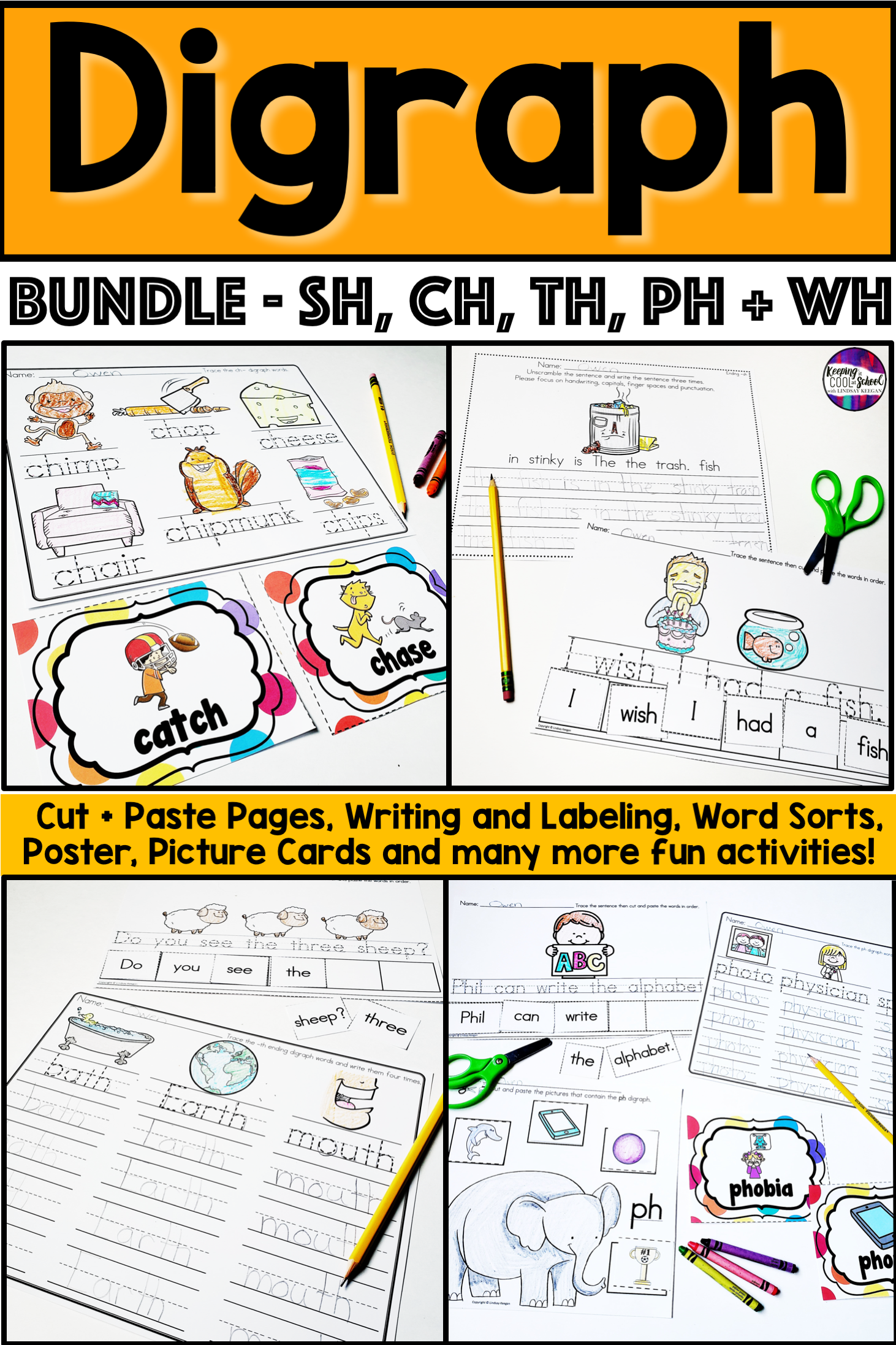 Digraphs Activities Bundle