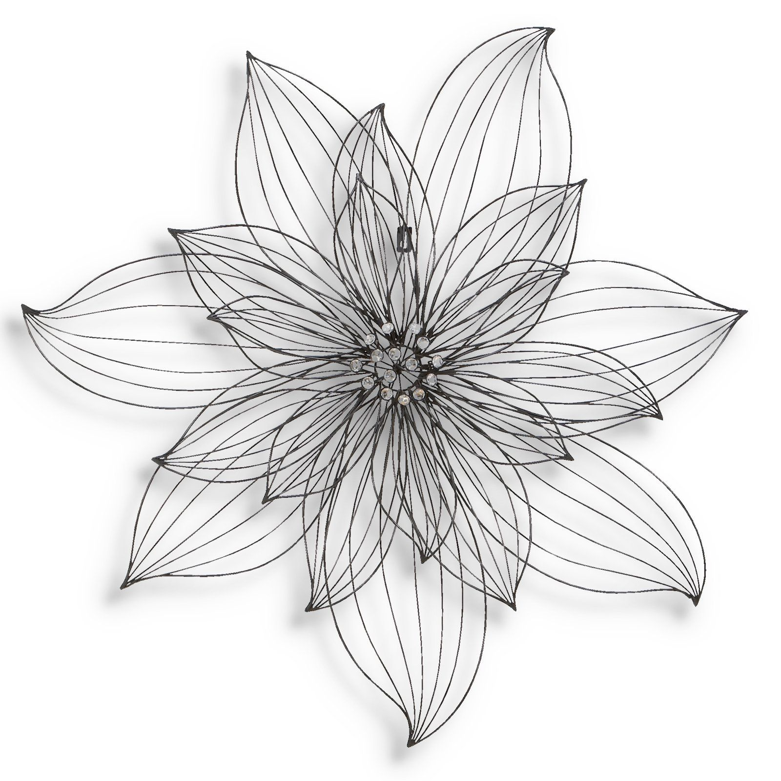 Simple Wire Flower Wall Decor