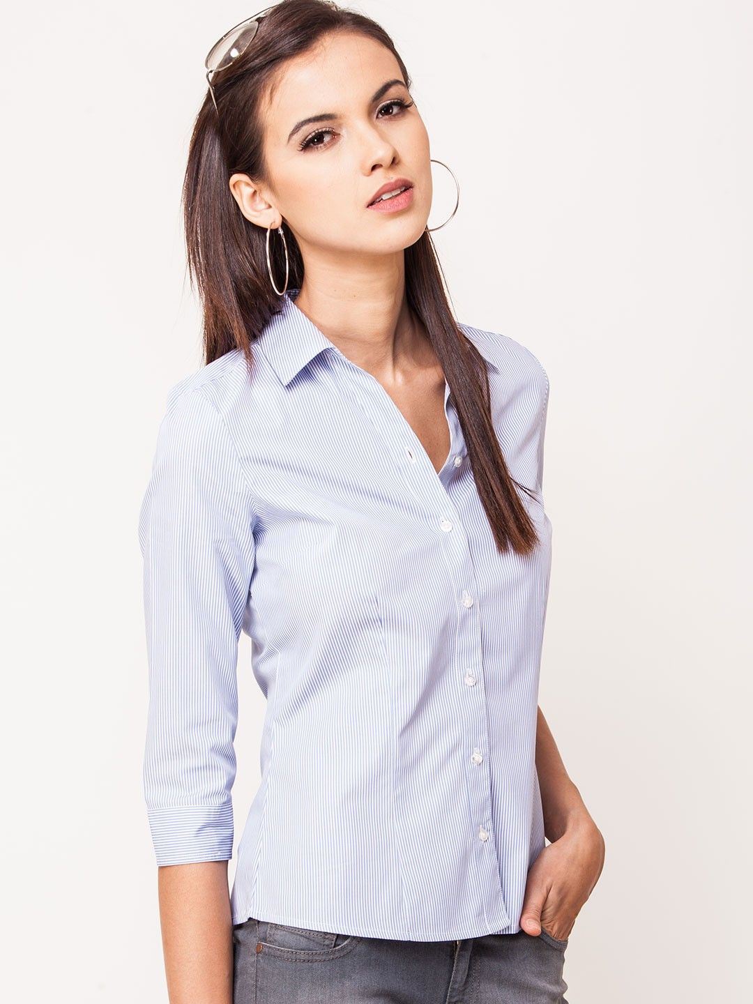 30a2d67f45ab48 Allen Solly Formal Shirt With Pin Stripe - Buy Women's Formal Shirts online  in India | KOOVS