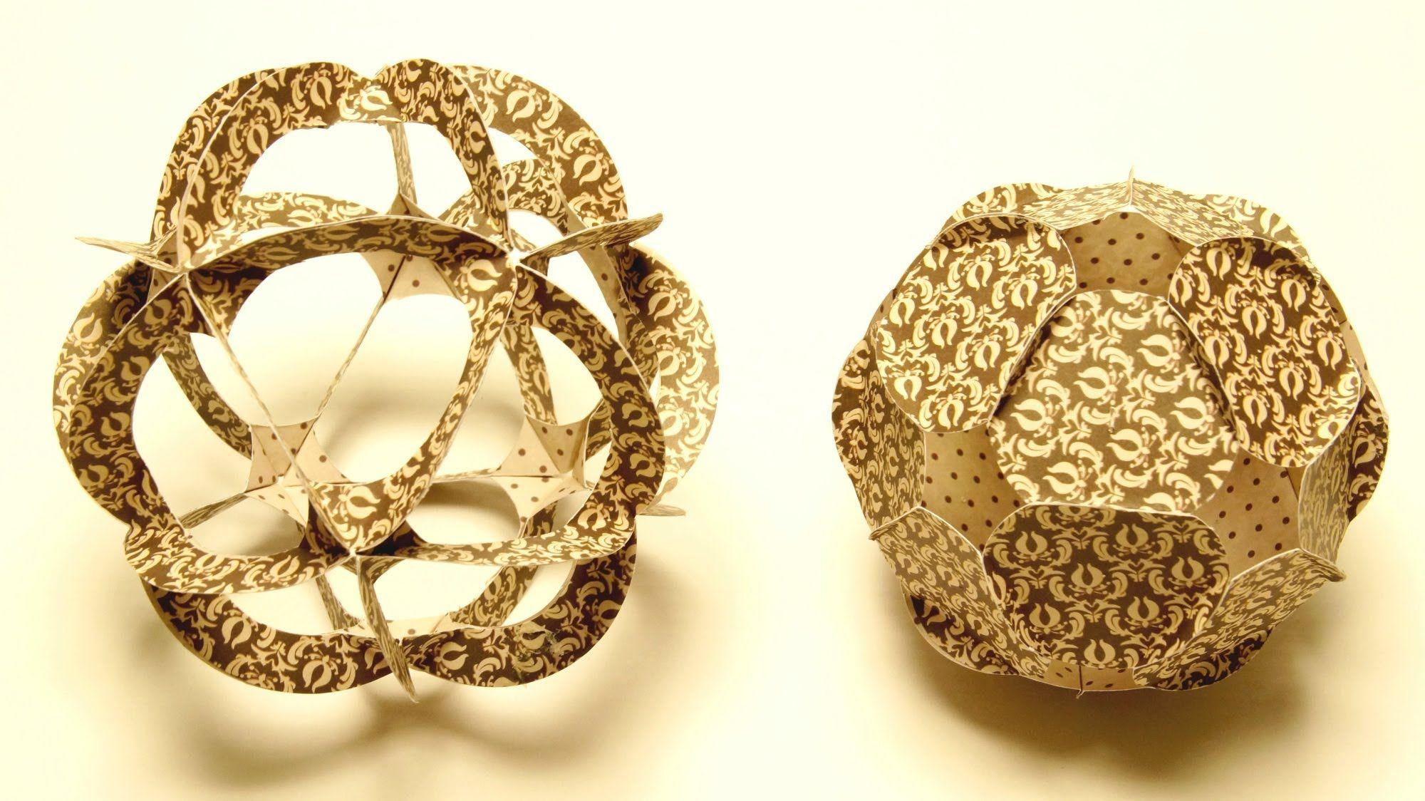 Basteln mit Papier: Paper Ball basteln aus Papier-Ornamenten...