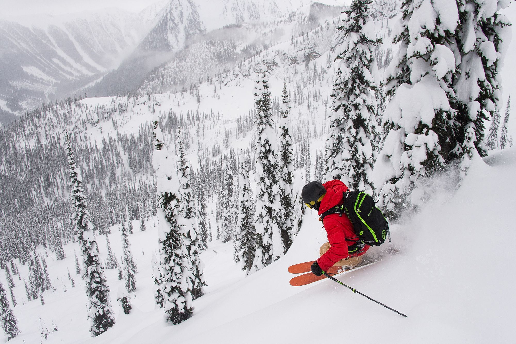 Cmh K2 Is A Tree Skier S Dreamland Photo Zach Doleac Cmh K2 Skiing Snowboarding Winter