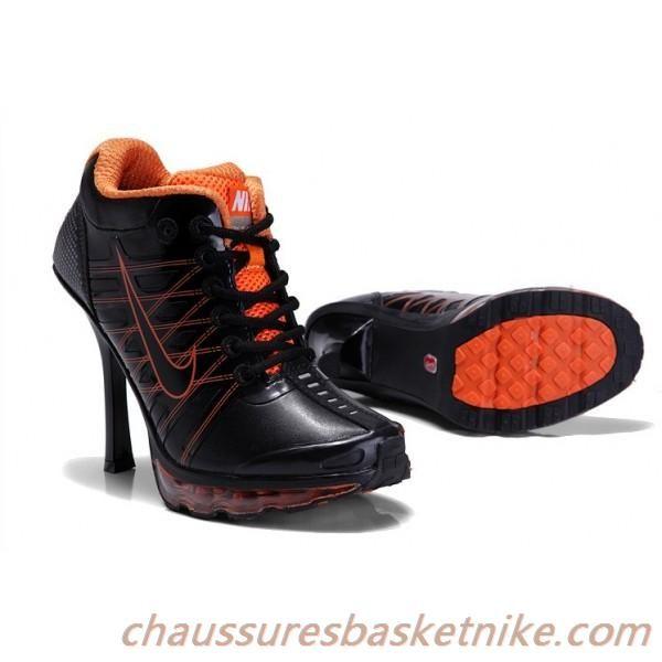 2013 Nike Air Max 2009 Basse Talons Hauts Noir / Orange
