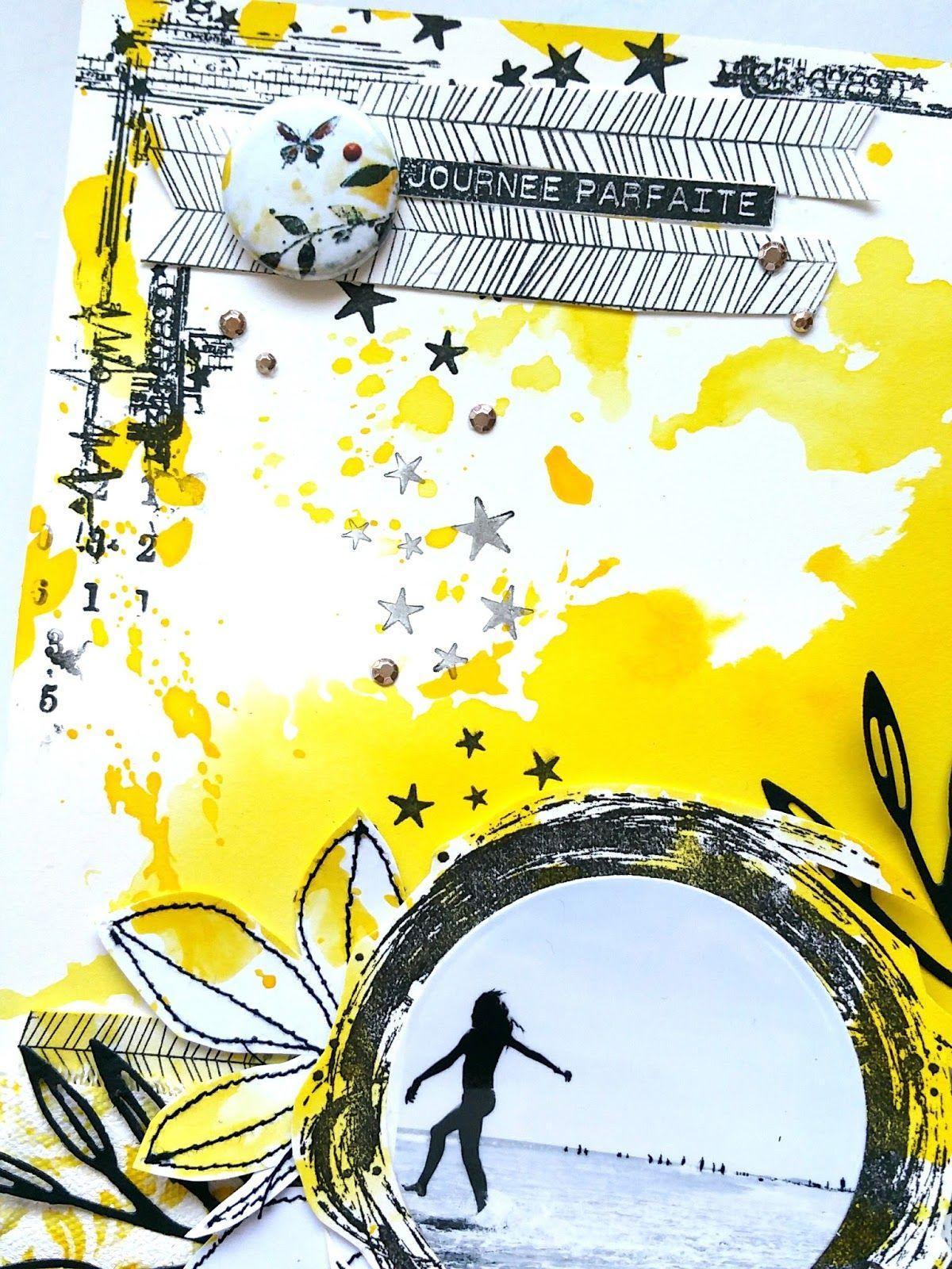 Little moments in my life: Tournoi scrap Lime Citron - Défi n°5