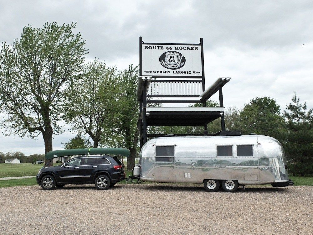Honey I Shrunk Our Rv We Travel In A Van Now Snowmads Airstream Travel Trailers Travel Trailer Camping Trailer For Sale