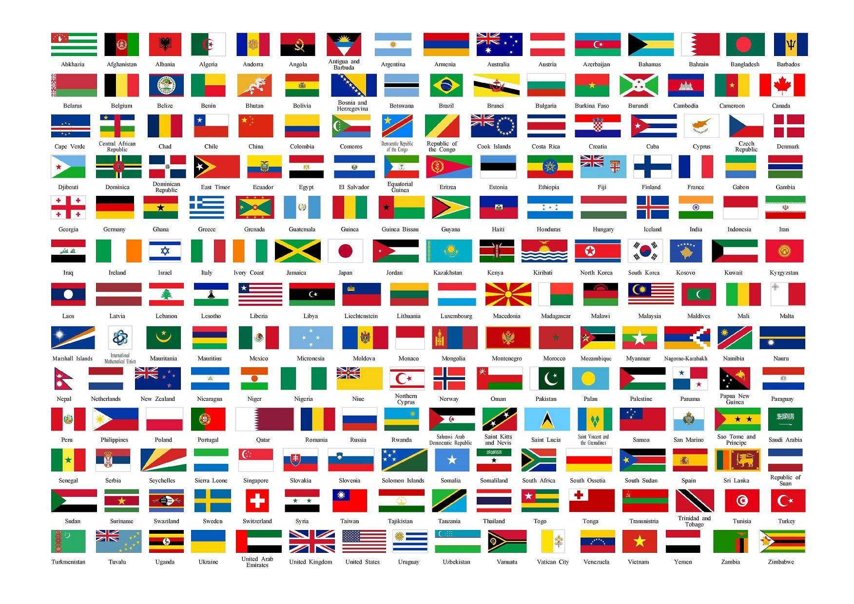 Colección Banderas del mundo | Mapas y banderas - vector | Pinterest ...