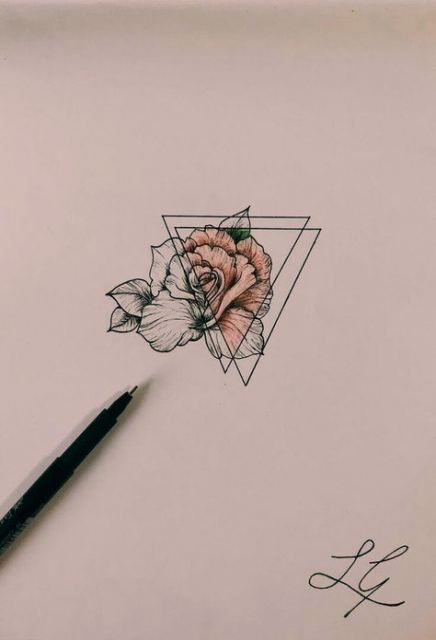 Tattoo Ideas Geometric Watercolor Tattoos