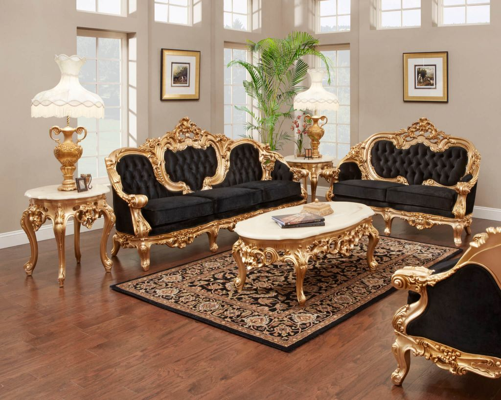10 Black And Gold Living Room Ideas 2021 The Reverse Mix Modern Living Room Furniture Sets Living Room Sets Furniture Antique Living Rooms