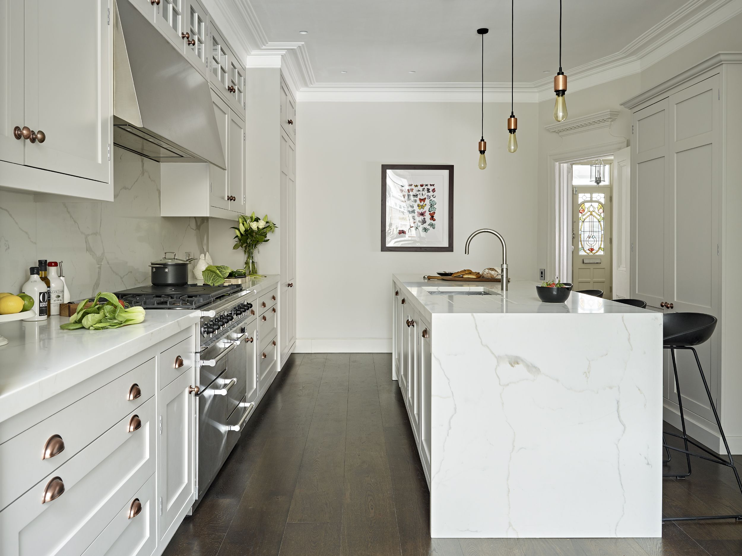 Putney Victorian House | Shaker kitchen cabinets, Shaker kitchen and ...