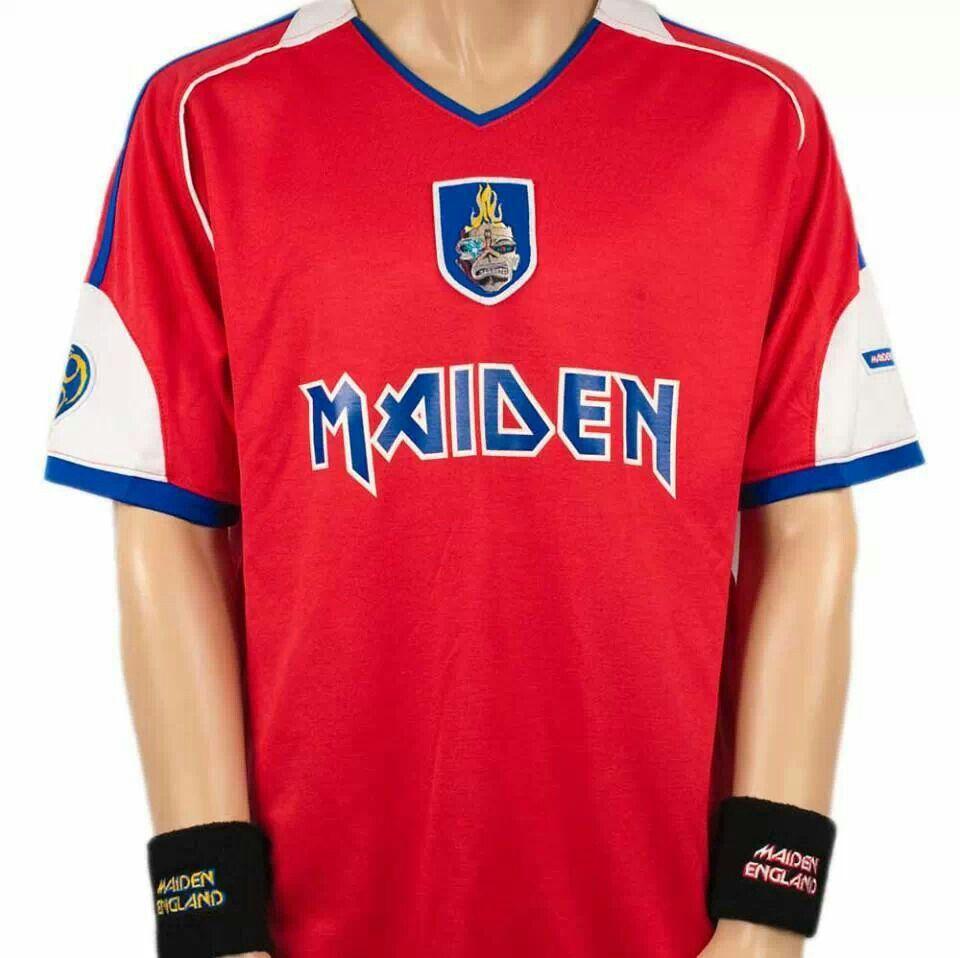 15342f07 European Soccer · Iron Maiden soccer jersey. Iron Maiden, Shirt Ideas,  Soccer, Hs Football,