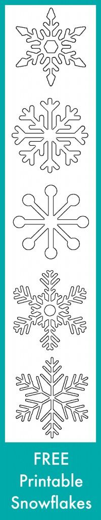 Free Printable Snowflake Templates – Large & Small Stencil