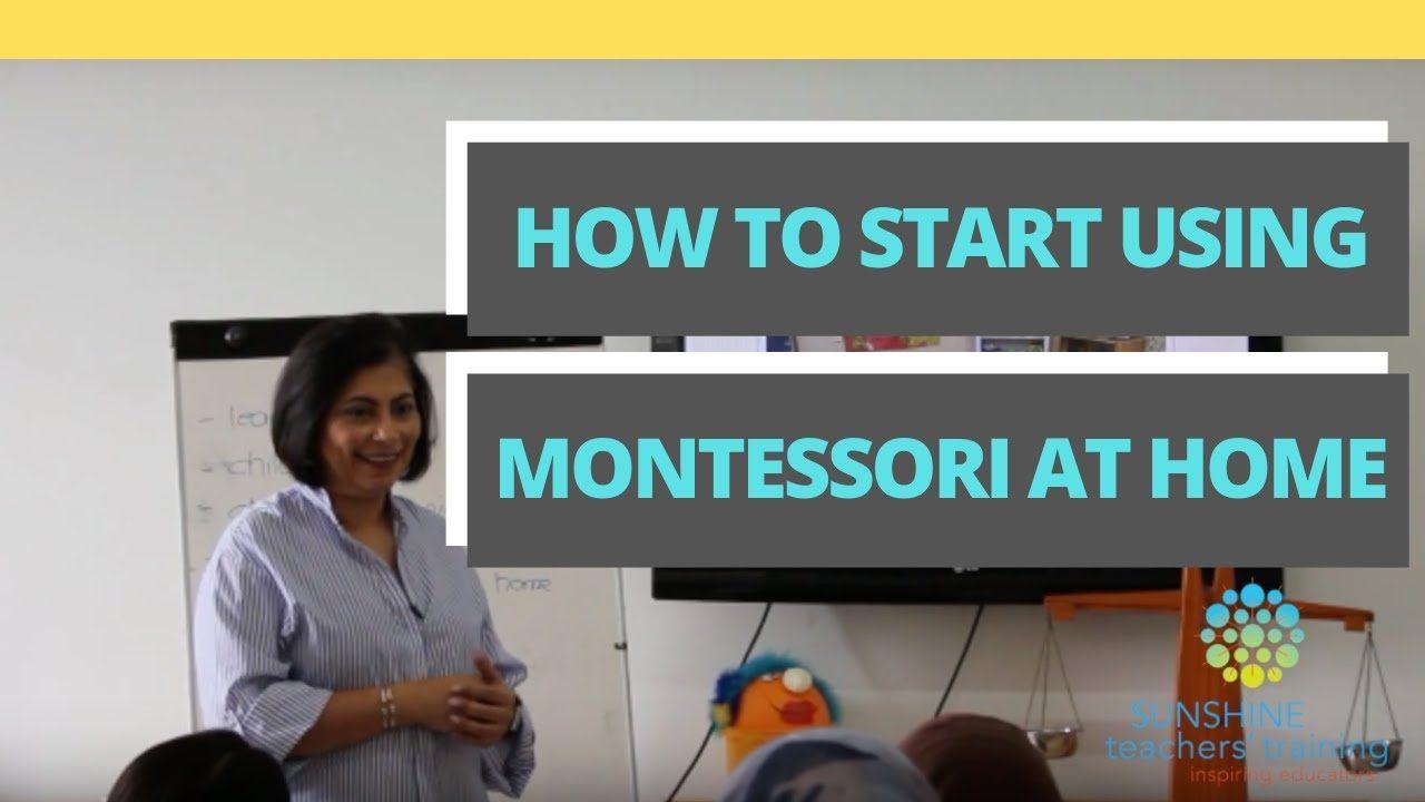 How to start using montessori at home youtube