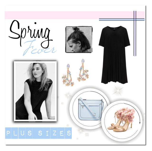 """""""Plus size spring date"""" by faigylefkowitz ❤ liked on Polyvore featuring Liz Claiborne, Yoek, Rupert Sanderson and Erickson Beamon"""