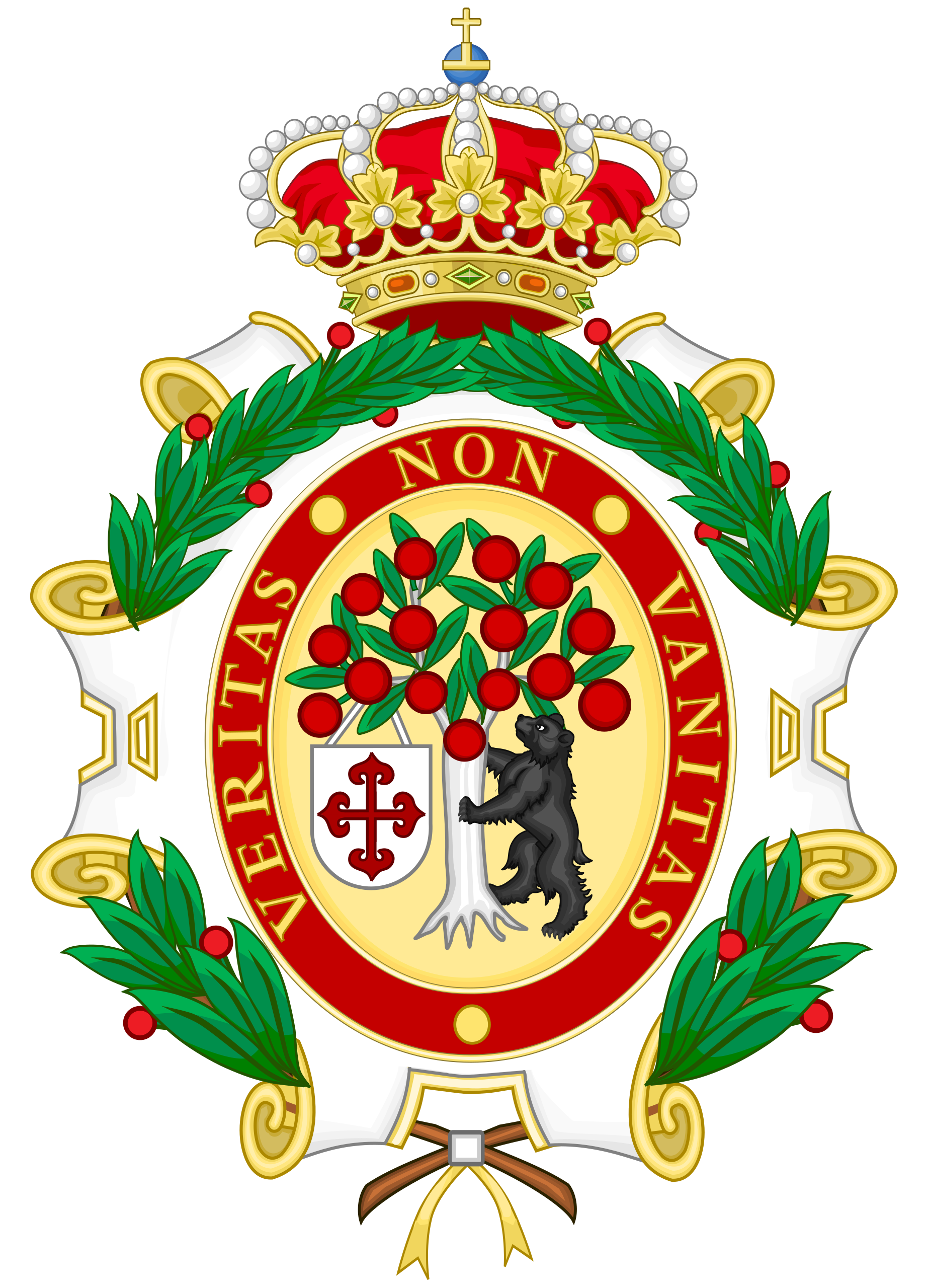 Escudo de Armas de la Academia de Heraldica y Genealogia de Madrid