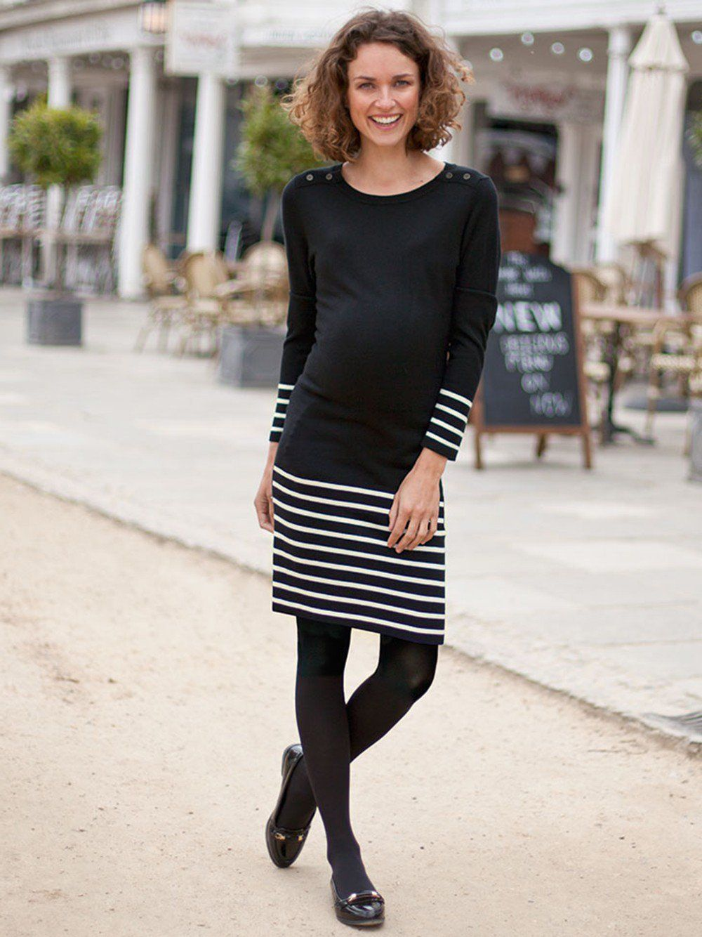 c10c7e794ca Stripe Knitted Maternity Dress