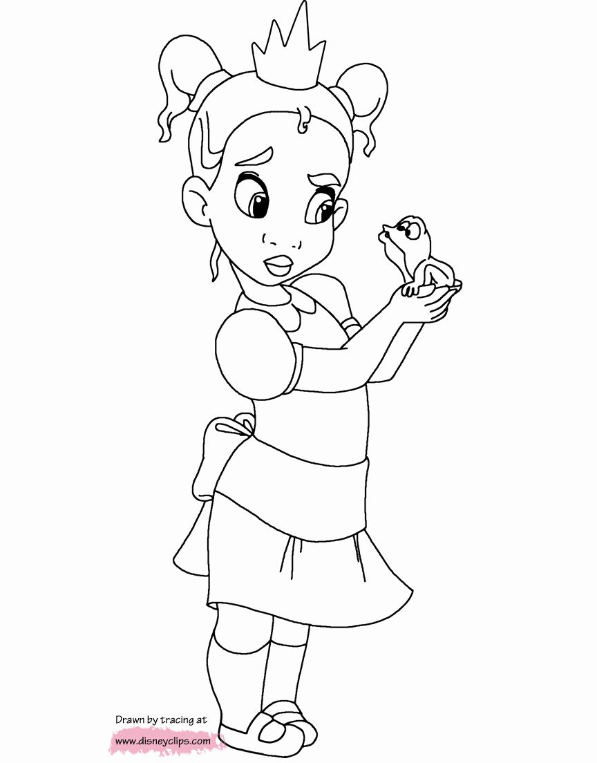 Disney Snow White Coloring Pages Fresh Baby Disney Princess Tiana Coloring Page Disney Princess Coloring Pages Princess Coloring Pages Disney Princess Drawings