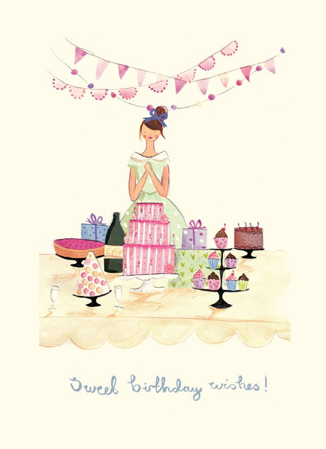 Greetings Cards Emma Block Illustration – Fashion Birthday Cards