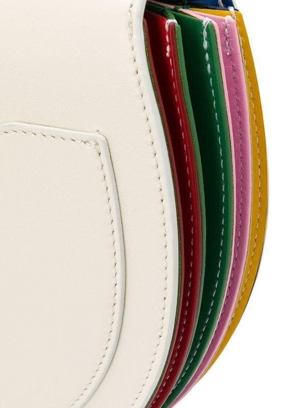 White Sara Battaglia Caroline Plissé crossbody bag B01009CAROLINE - Farfetch
