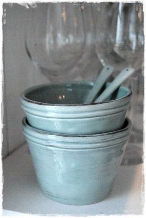 robin's egg blue porcelain bowls by emily
