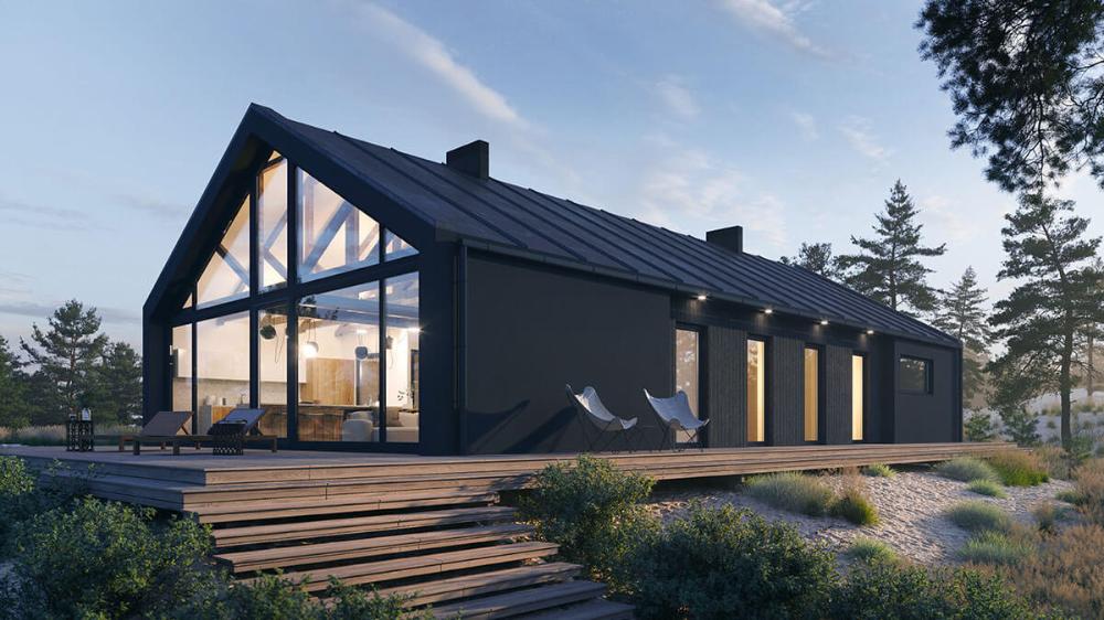 Projekt domu modułowego MAB010 [162.89 m2]
