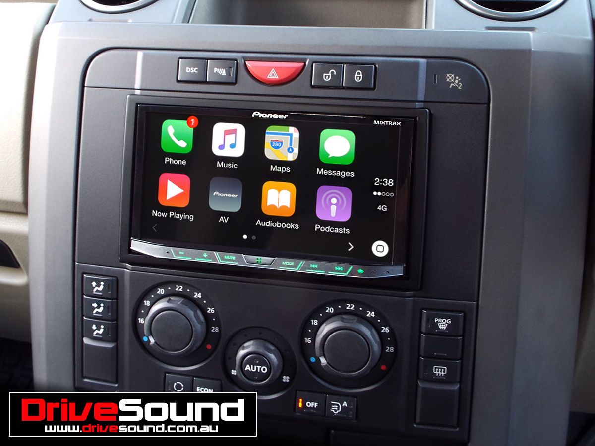 Landrover Discovery3 with Apple CarPlay installed by