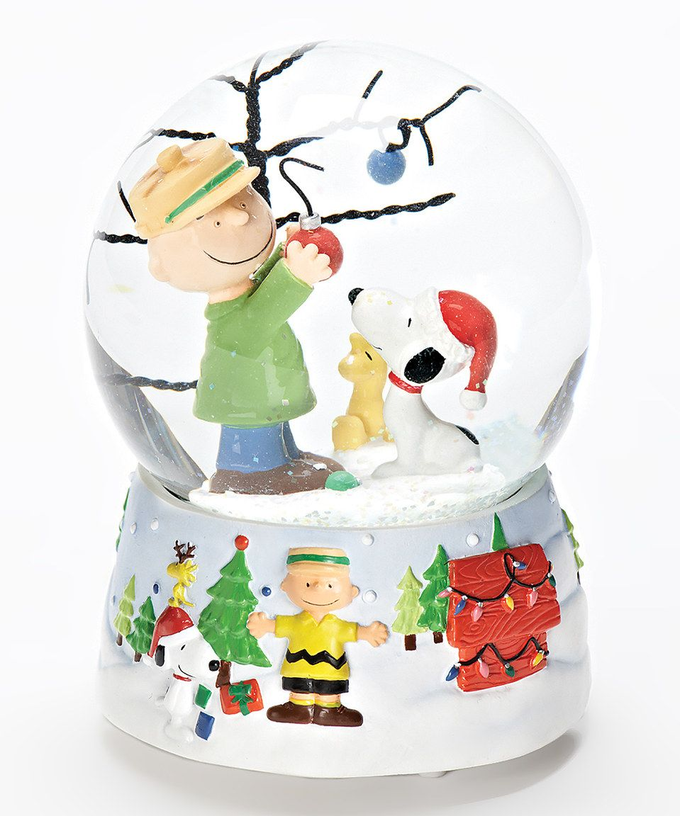 Snoopy Christmas Tree Snow Globe by Peanuts by Charles Schulz ...
