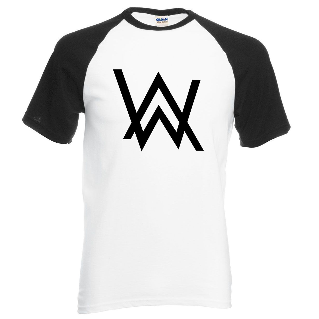 01f7d5db5 DJ Alan Walker Faded Raglan T-Shirt 2017 Summer 100% Cotton Men T Shirt
