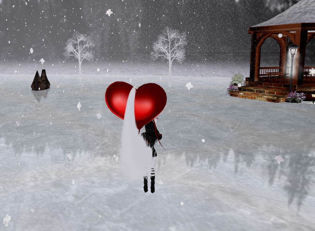 Captured Inside IMVU - Join the Fun! solo mirando el paisaje