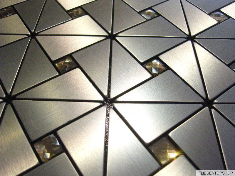 Sehr Selbstklebende Fliesen Bad : Effekt Mosaik Fliesen aluminium Glas  LG47