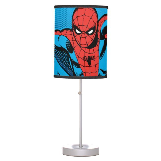 Retro Spider-Man Web Shooting Table Lamp #affiliate , #AFFILIATE, #Web, #Shooting, #Table, #Man, #Shop