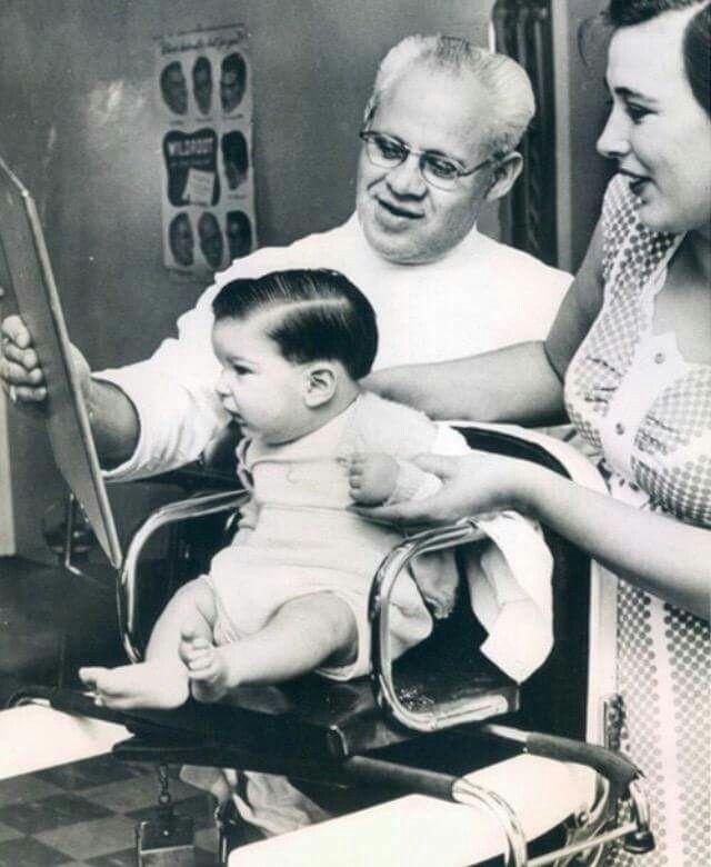 First Haircut 1955 Baby S First Haircut First Haircut Barber Shop