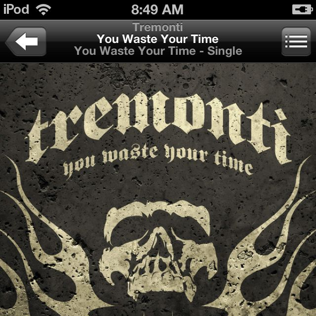 First single from Mark Tremonti's solo album. LOVE IT!