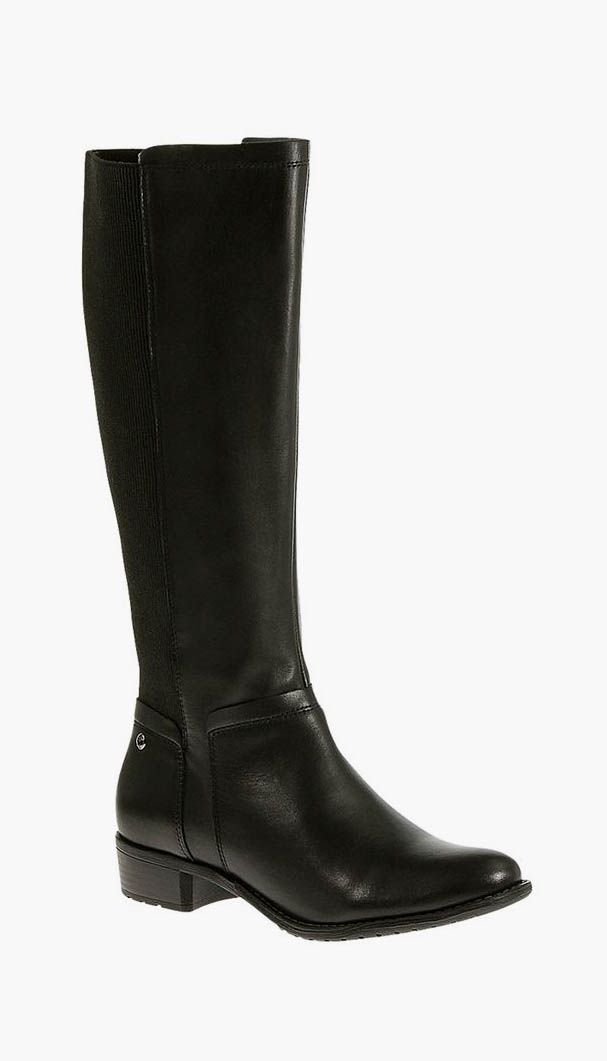 Lindy Chamber Leather Wide-Calf Boot