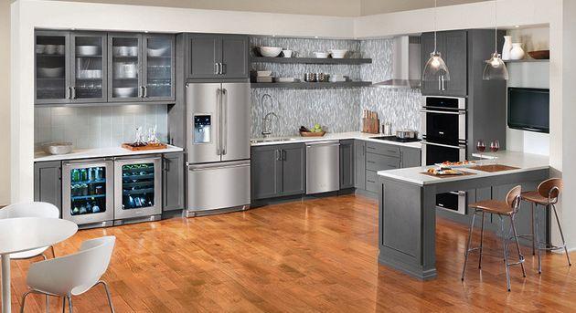 metallic or gray kitchen cabinets graceplumbingservices