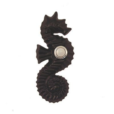 Waterwood Hardware WW151 Seahorse Doorbell Button and Cover