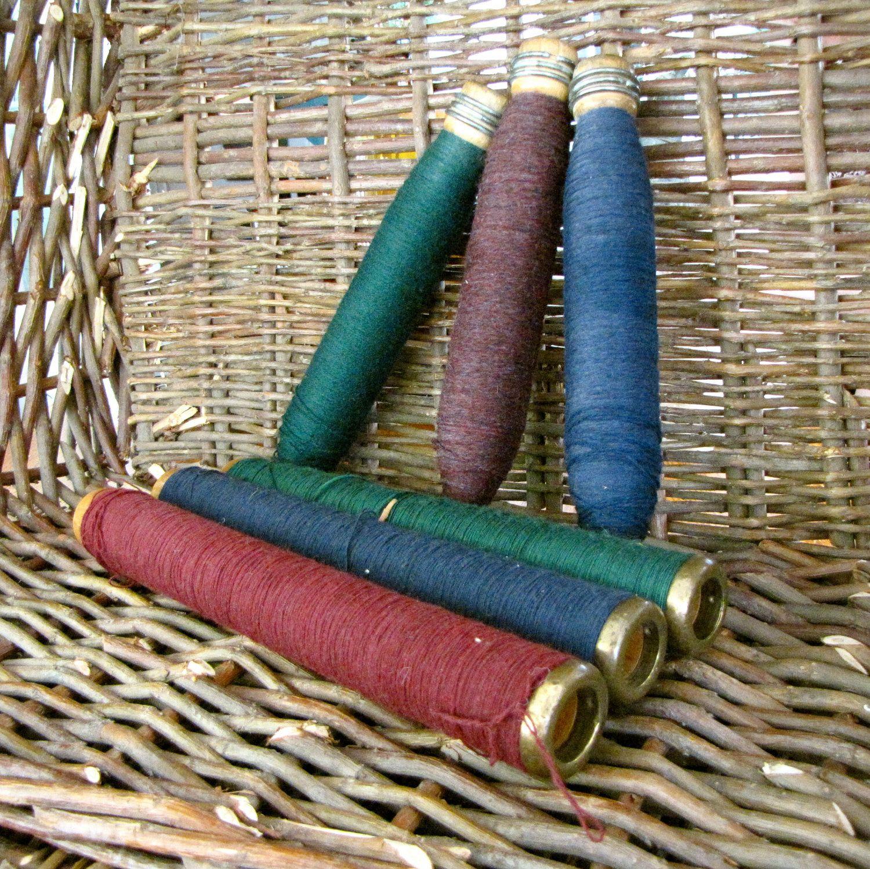 antique bobbins and spools   Vintage Wooden Spools- Bobbin Spools-Looming Spool