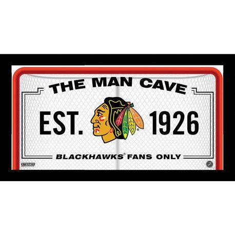 Chicago Blackhawks Man Cave Sign