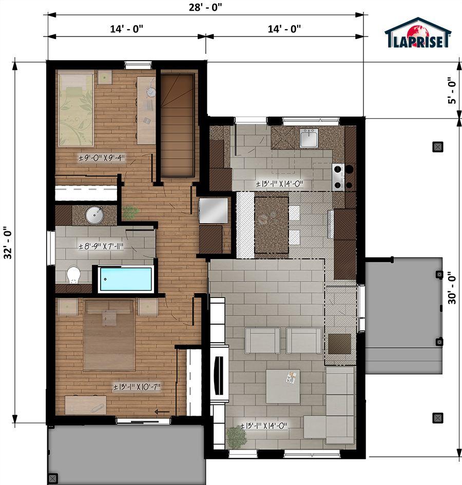 Zen Homes laprise kit homes designer, zen & contemporary | lap0506 | maison