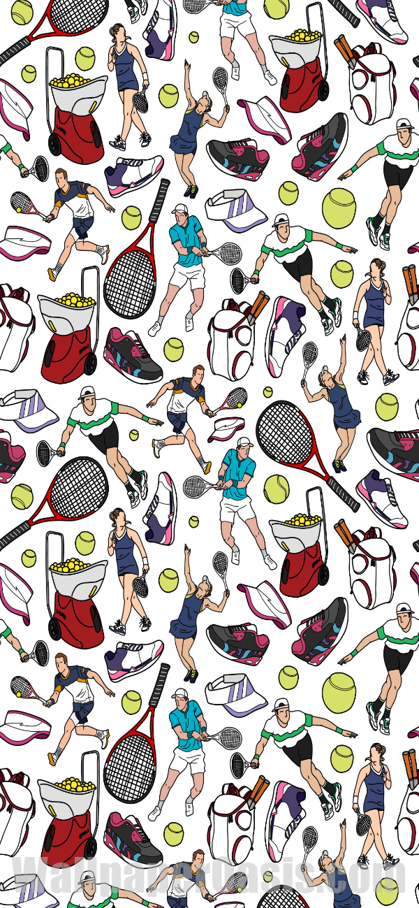 Free Colorful Tennis Doodle Iphone Wallpaper This Design Is Available For Iphone 5 Through Iphone X Get This Back Tennis Wallpaper Iphone Wallpaper Wallpaper