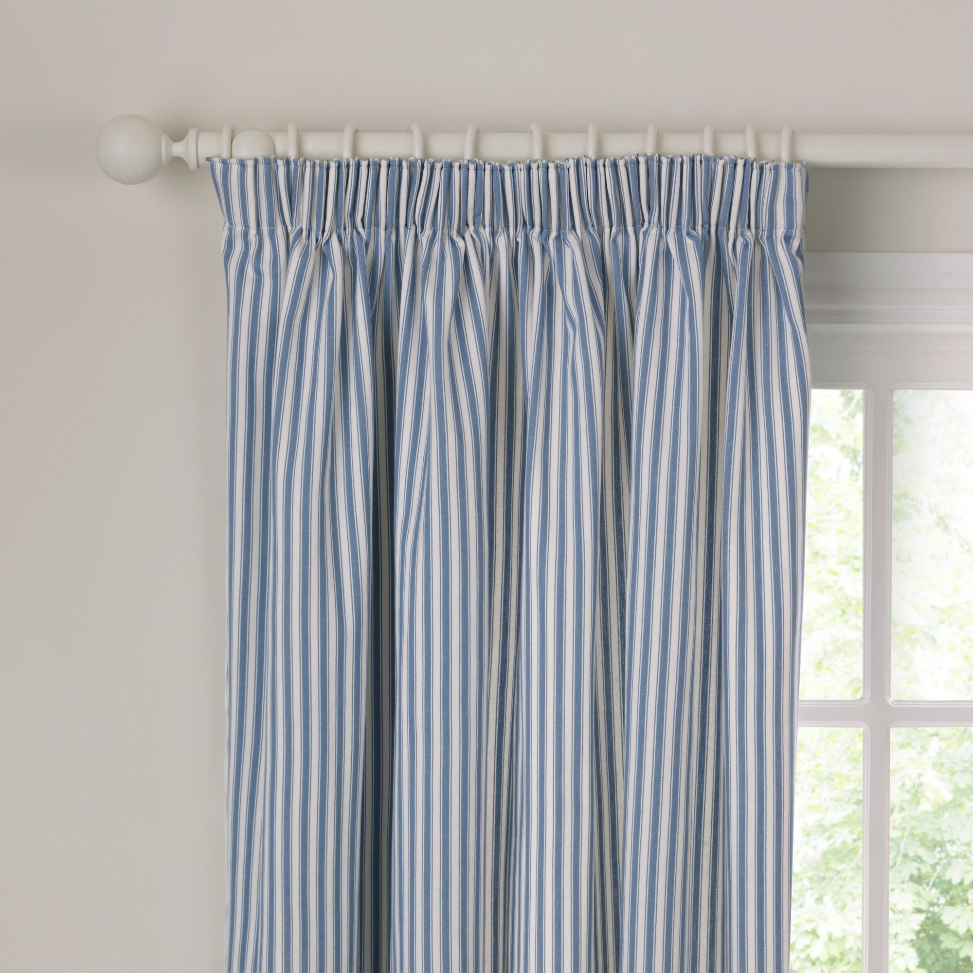 Curtains Uk John Lewis Homeminimalis Ticking Stripe Curtains Pencil Pleat Curtains