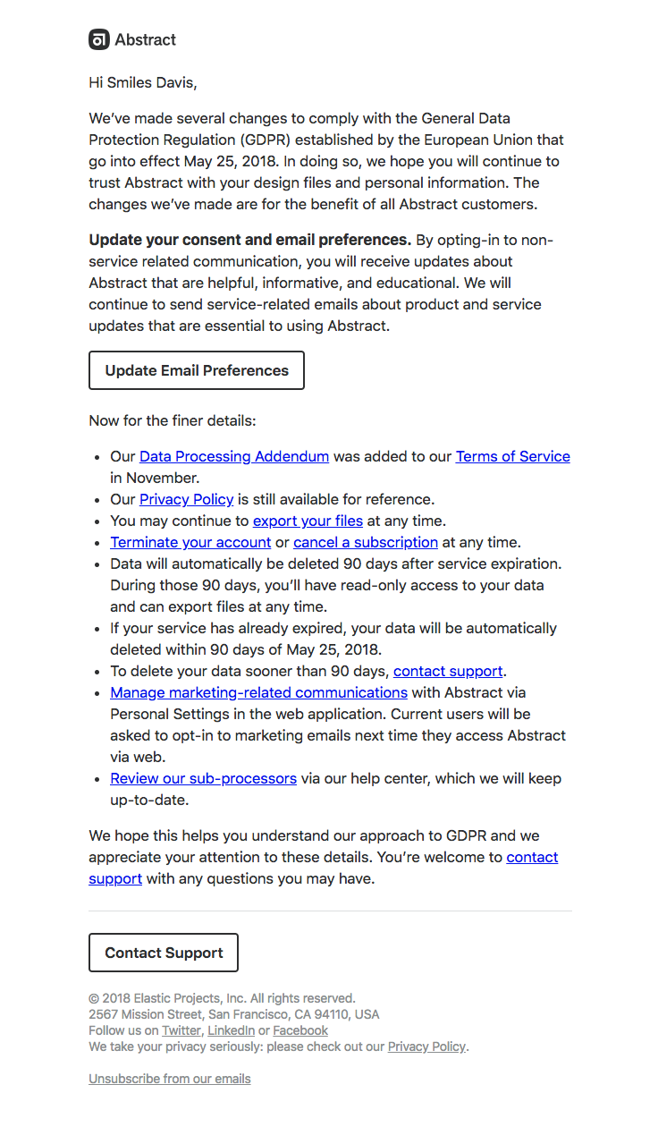 Abstract Sent This Email With The Subject Line Yes This Is Another Gdpr Email Read About Thi Email Reading Best Email General Data Protection Regulation