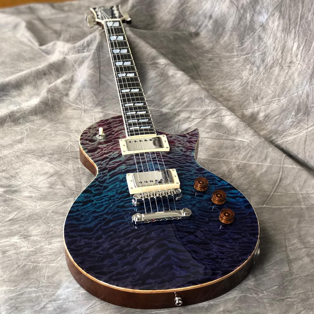 ESP USA Eclipse in Purple Haze with stainless steel frets, EMG 57/66