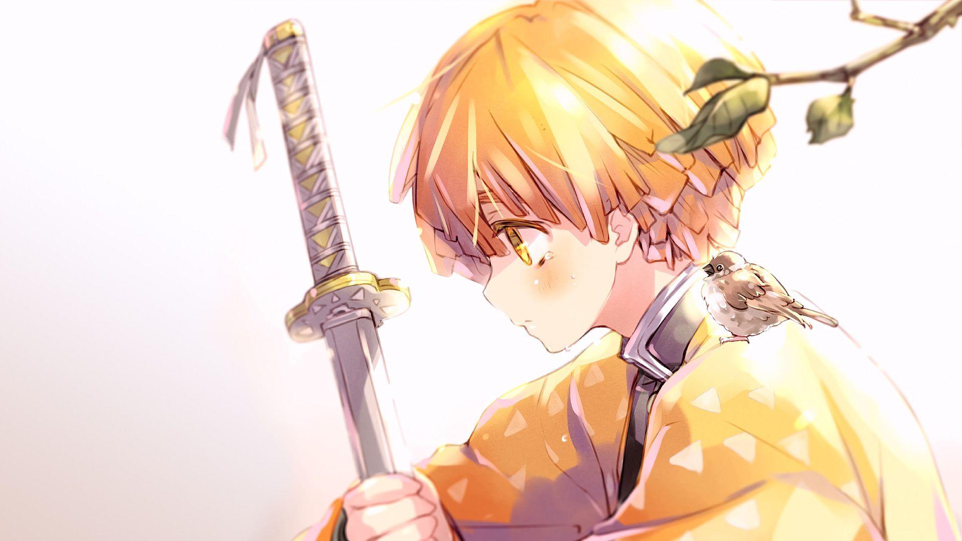 Agatsuma Zenitsu Mobile Wallpaper Seni Anime Animasi Seni
