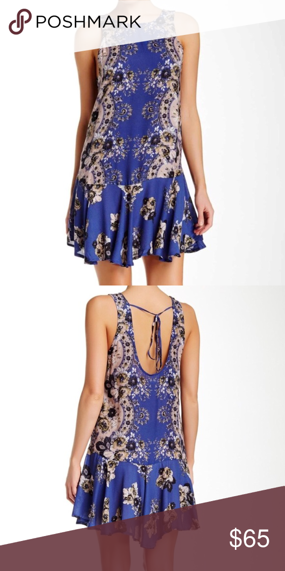 a00f1f28223f FREE PEOPLE Intimately Print Flouncy Hem Slip EUC! Great piece that can be  worn as both a tunic or dress. ***Reasonable offers welcome*** Free People  Tops ...