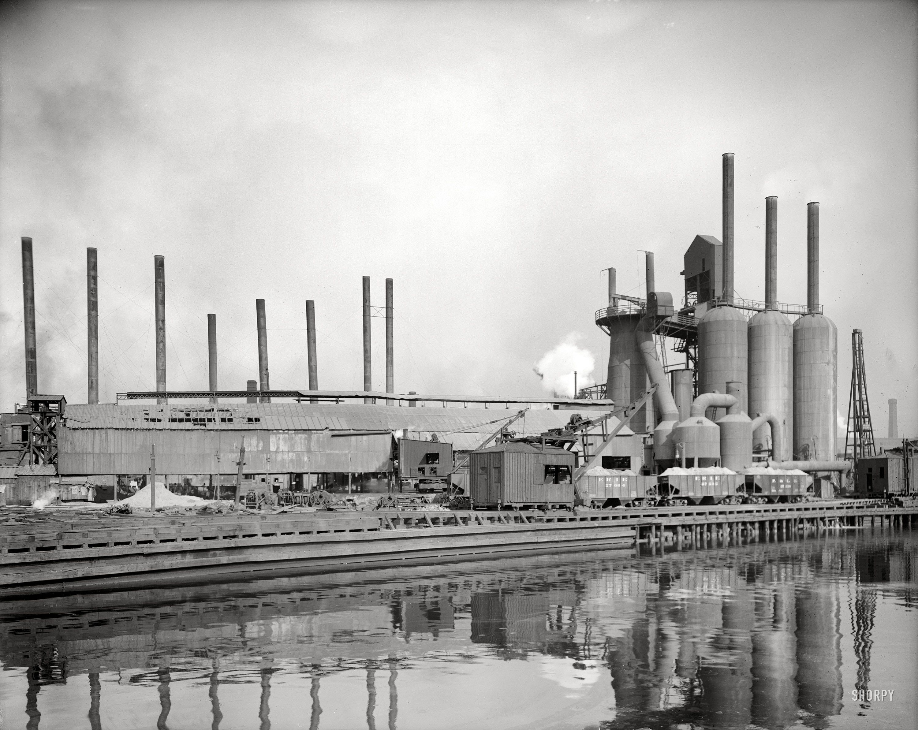 c. 1908) Central Furnace Works. Foundry of the American Steel & Wire ...