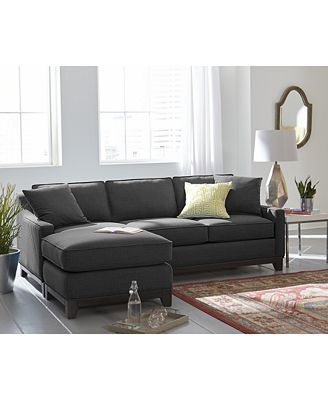 Keegan 90 2-Piece Fabric Reversible Chaise Sectional Sofa | Baby ...