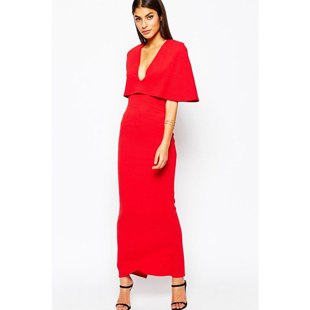 Red cape maxi dress sale laveliq products pinterest products