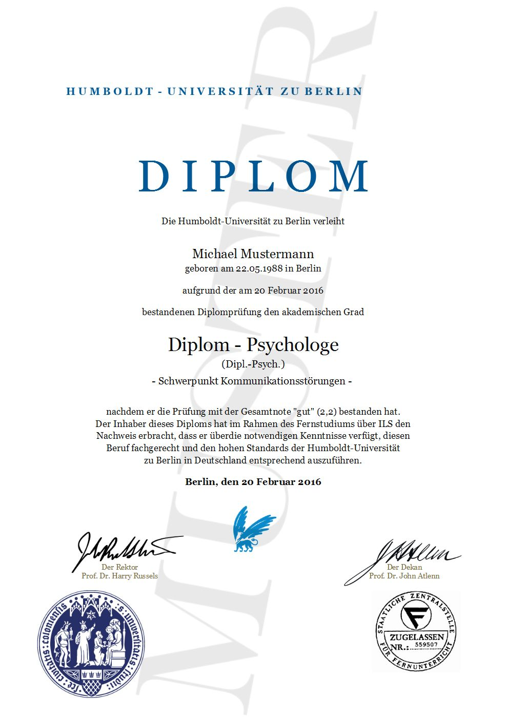 Diplom Urkunde online erstellen, gestalten und ausdrucken ...